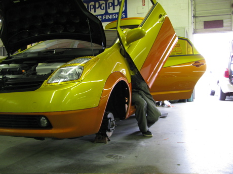 Green Gears works with George Barris on Custom Prius