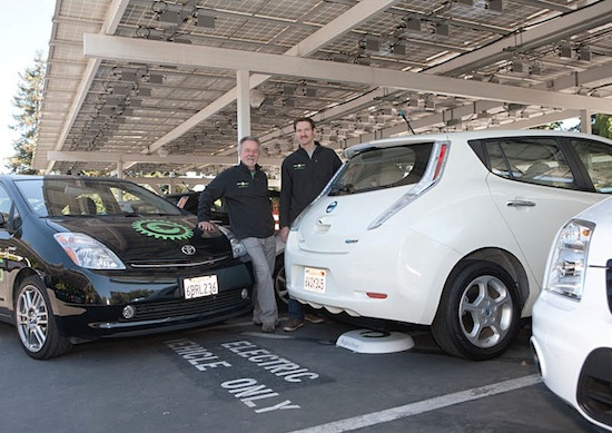 Green Gears installs the first inductive charge station on the West Coast at Google